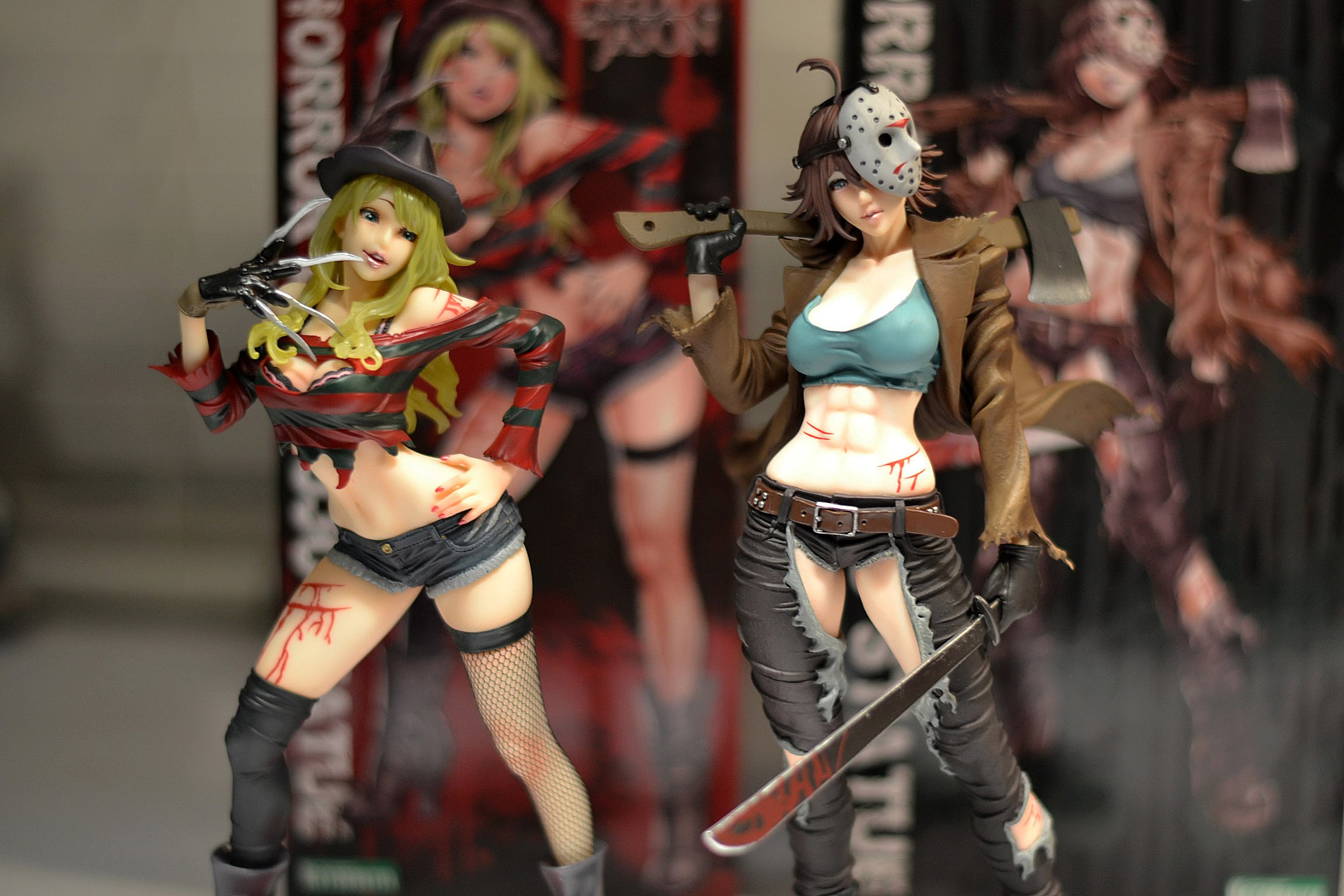 Freddy and Jason Gender Swapped Figures - Edward Coming Soon!